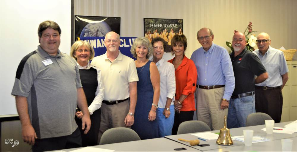 b9c5936261f394 The Fuquay-Varina Kiwanis and Key Club members and guests joined together  to Install their new President and Board members. Kevin Little